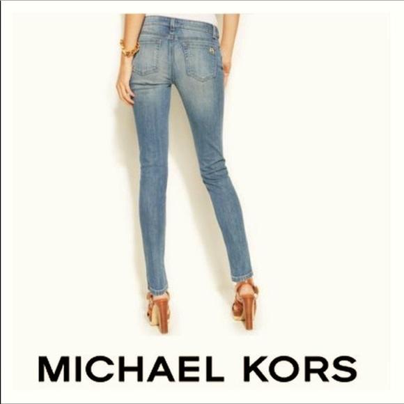 Michael Kors Denim - Michael Kors Ankle Zip Skinny Jeans